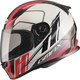 White/Red/Black FF49 Rogue Street Helmet