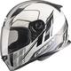 White/Silver/Black FF49 Rogue Street Helmet