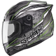 Black/Silver/Hi-Vis Green GM69 Mayhem Helmet