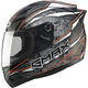 Black/Silver/Hi-Vis Orange GM69 Mayhem Helmet