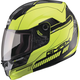 Hi-Viz Yellow/Black MD04 Modular Street Helmet