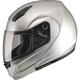 Metallic Silver MD04 Modular Street Helmet