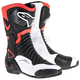 Black/Red/White SMX 6 V2 Vented Boot