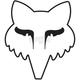 White 3.5 in. Legacy Head Sticker - 14906-008-OS