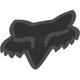 Matte Black 2.5 in. Fox Head Sticker - 14897-255-OS