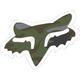 Camo 7 in. Fox Head Sticker - 14901-027-OS