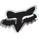 Chrome 7 in. Fox Head Sticker - 14901-010-OS