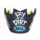 Black/Blue Visor for Moto-9 Flex Day In The Dirt LE Helmet - 7084127