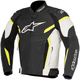 Black/White/Fluorescent Yellow GP Plus R v2 Airflow Leather Jacket