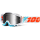 Racecraft Calculus Ice Goggles w/Silver Mirror Anti-Fog Lens+Extra Clear Lens - 50110-205-02