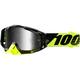 Racecraft Cox Goggles w/Silver Mirror Anti-Fog Lens+Extra Clear Lens - 50110-207-02