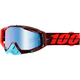Racecraft Kikass Goggles w/Blue Mirror Anti-Fog Lens+Extra Clear Lens - 50110-208-02