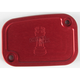 Red Front Master Cylinder Cover - R-C128-T7