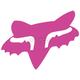 Pink 2.5 in. Fox Head Sticker - 14897-170-OS
