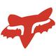 Red 4 in. Fox Head Sticker - 14898-003-OS