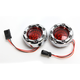 Chrome Bullet Ringz LED Turn Signals w/Red Lens for Harley CVO models - BTRC-RR-JAE-R