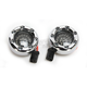 Chrome Bullet Ringz LED Turn Signals w/Smoke Lens for Harley CVO models - BTRC-RR-JAE-S