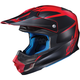 Semi-Flat Black/Red FG-MX Axis MC-1SF Helmet