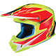Hi Viz Yellow/Semi-Flat Red FG-MX Axis MC-3HSF Helmet