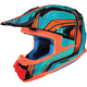 Blue/Orange FG-MX Piston MC-4 Helmet