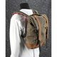 Dark Oak Waxed Canvas Roll Top Back Pack - B15-1020D