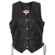 Womens USA Made Leather Vest