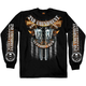 Black Crossed Pistols Long Sleeve T-Shirt
