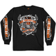 Black Angry Eagle Long Sleeve T-Shirt
