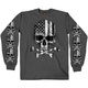 Charcoal Flag Skull Long Sleeve T-Shirt