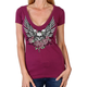 Women's Purple Skull w/Angel Wings T-Shirt