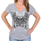 Women's Gray Asphalt Anger T-Shirt