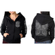 Women's Black Chalk Angel Wings Hoody