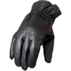 Black Waterproof Unisex Leather Gloves