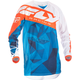 Blue/White/Orange Crux Kinetic Mesh Jersey