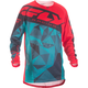 Teal/Red/Black Crux Kinetic Mesh Jersey