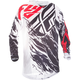 Black/White/Red Relapse Kinetic Mesh Jersey