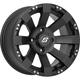Front/Rear Spyder Black 12x7 Wheel - 570-1144