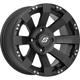 Front/Rear Spyder Black 12x7 12mm Stud Wheel - 570-1145
