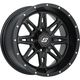 Front/Rear Black Badlands 15x7 10mm Stud Wheel - 570-1195