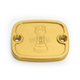 Gold Front Master Cylinder Cover - R-C122-T6