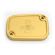 Gold Front Master Cylinder Cover - R-C128-T6