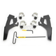 Black Fats/Slims No-Tool Trigger-Lock Windshield Plate Kit - MEB2021