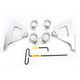 Silver Fats/Slims No-Tool Trigger-Lock Windshield Mounting Kit - MEK2023
