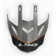 Gray/Orange Visor for Pioneer Element Helmets - 03-151