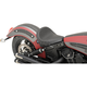 Black Smooth Bobber-Style Front Solo Seat - 0810-1985