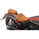 Brown Diamond Stitch Bobber-Style Rear Pillion Pad - 0810-1994
