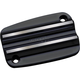 Black Finned Front Brake Master Cylinder Cover - C1175-B