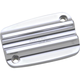 Chrome Finned Front Brake Master Cylinder Cover - C1175-C