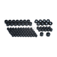 Gloss Black Kool Kaps Engine Bolt Cover Kit - 2452