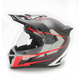 Black/Red Krios Karbon Vanquish Adventure Helmet